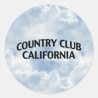 Club de campo California Pegatinas Redondas