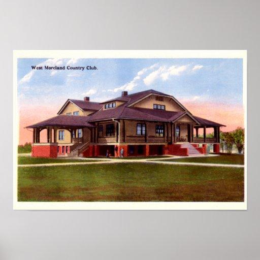 Club de campo de Huntington Virginia Occidental W  Posters