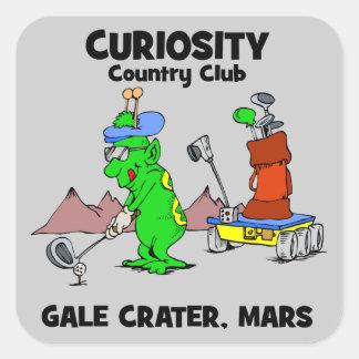 Club de campo de la curiosidad colcomanias cuadradas