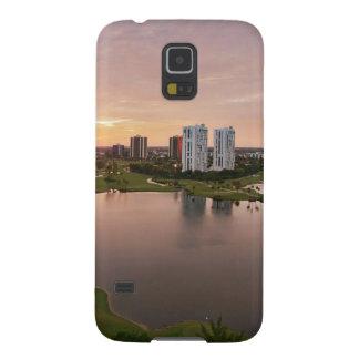 Club de campo en la puesta del sol, Aventura, la F Carcasas De Galaxy S5
