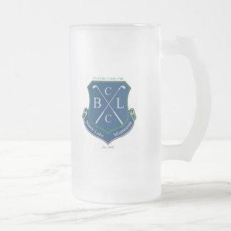 Club de campo negro del lago (zurdo) taza de cristal