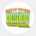 Club de Cheeseheads Mooootercycle Etiquetas