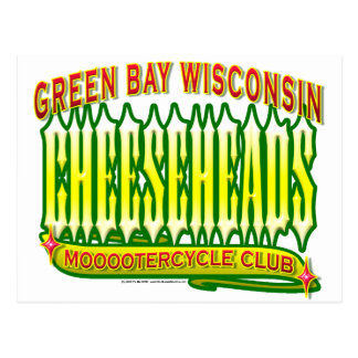 Club de Cheeseheads Mooootercycle Postal