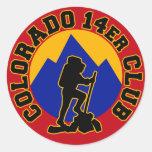 Club de Colorado 14er Pegatina Redonda