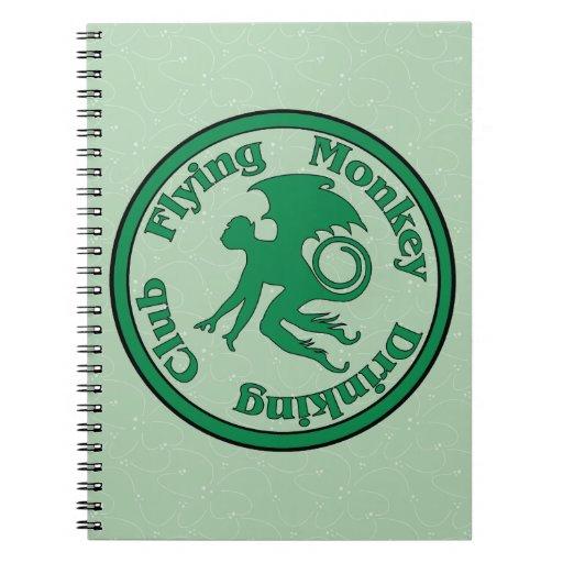 Club de consumición del mono del vuelo cuadernos