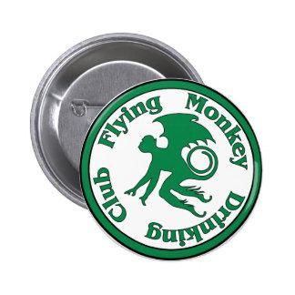 Club de consumición del mono del vuelo pin redondo de 2 pulgadas