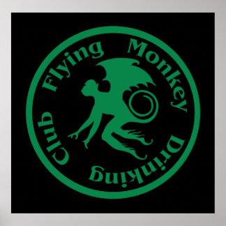 Club de consumición del mono del vuelo póster