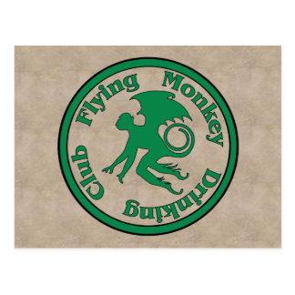 Club de consumición del mono del vuelo postal