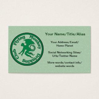Club de consumición del mono del vuelo tarjetas de visita