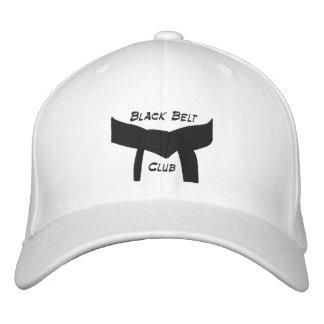 Club de encargo de la correa negra de los artes ma gorras bordadas