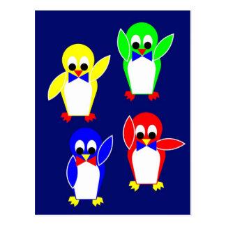 Club de fans de la tienda fría de los pingüinos postal