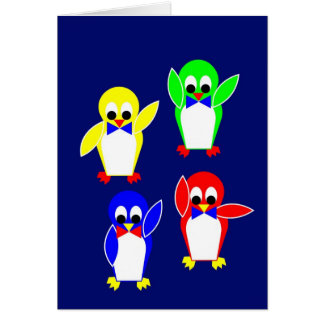 Club de fans de la tienda fría de los pingüinos tarjeta de felicitación