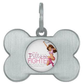 Club de fans de los combatientes de la almohada placa mascota