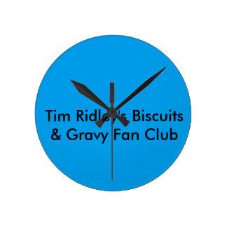 Club de fans de Tim Ridley Reloj Redondo Mediano