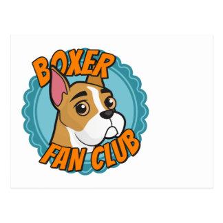 Club de fans del boxeador tarjetas postales