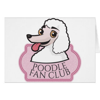 Club de fans del caniche tarjeta de felicitación