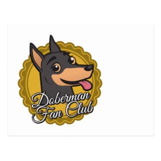 Club de fans del Doberman Tarjeta Postal
