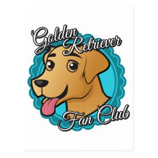 Club de fans del golden retriever tarjetas postales