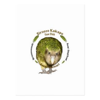 Club de fans del Kakapo del siroco Tarjeta Postal