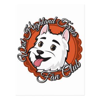 Club de fans del oeste de Terrier de la montaña Tarjetas Postales