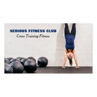 club de fitness o gimnasio tarjetas de visita