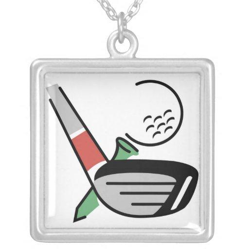 Club de golf, bola, y camisetas y regalos de la ca joyería