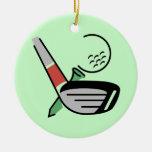 Club de golf, bola, y camisetas y regalos de la ornato