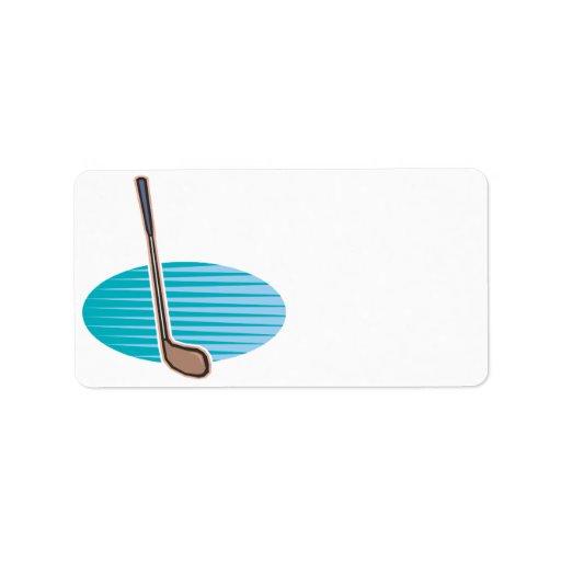 Club de golf etiquetas de dirección