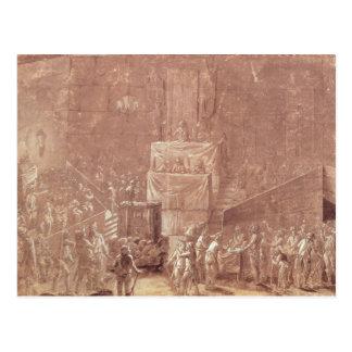 Club de Jacobin durante la revolución Tarjeta Postal