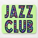 Club de jazz alfombrillas de raton