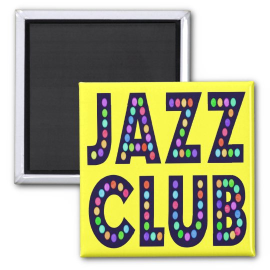 Club de jazz imán cuadrado