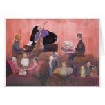 Club de jazz tarjeta de felicitación