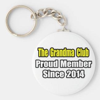 Club de la abuela. Miembro orgulloso desde 2014 Llavero