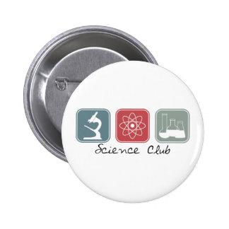 Club de la ciencia (cuadrados) pin redondo de 2 pulgadas