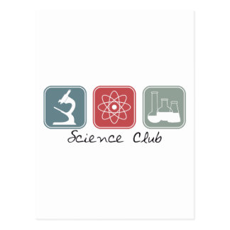 Club de la ciencia (cuadrados) postales