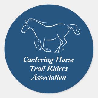 Club de la equitación del rastro pegatina redonda
