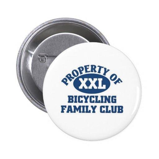 Club de la familia que monta en bicicleta pins