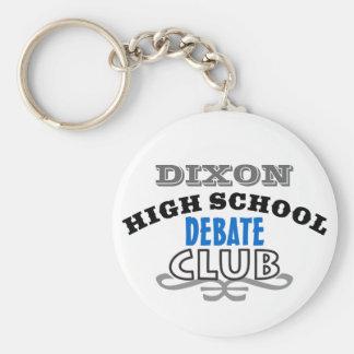 Club de la High School secundaria - discusión Llavero Redondo Tipo Pin