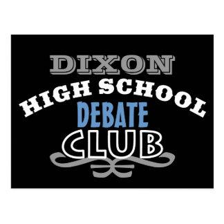Club de la High School secundaria - discusión Postal