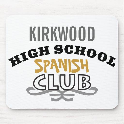 Club de la High School secundaria - español Mousepads