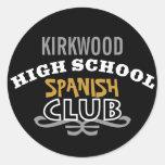 Club de la High School secundaria - español Pegatina Redonda