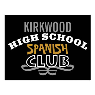 Club de la High School secundaria - español Postal