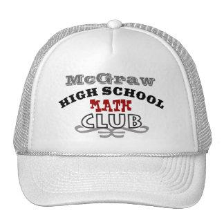Club de la High School secundaria - matemáticas Gorras
