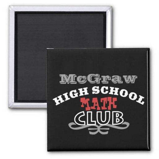 Club de la High School secundaria - matemáticas Imán Para Frigorífico