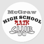 Club de la High School secundaria - matemáticas Etiquetas Redondas