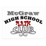 Club de la High School secundaria - matemáticas Postales