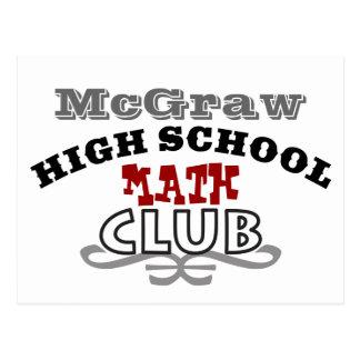 Club de la High School secundaria - matemáticas Postal