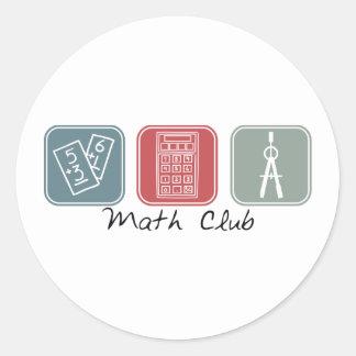 Club de la matemáticas (cuadrados) pegatina redonda