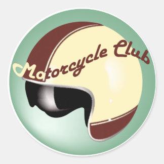 club de la motocicleta del vintage pegatina redonda