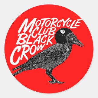 Club de la motocicleta pegatina redonda